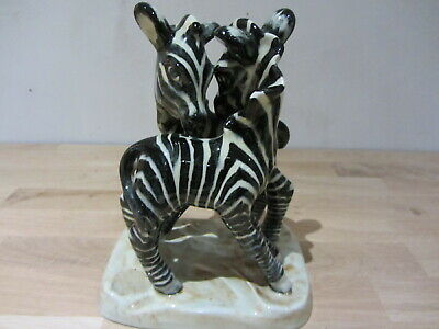 Vintage Art Deco Goldscheider Myott Son And Co. Zebra Group • 74£
