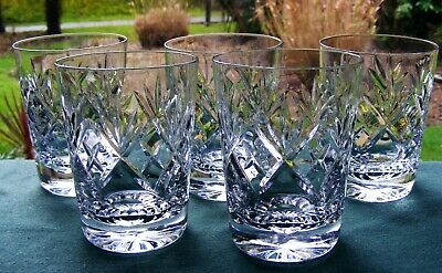 Beautiful Set 5 Royal Doulton  Georgian  4  Double Old Fashioned Whisky Glasses • 45£