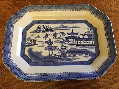 Antique Blue And White Meat Plate Ashworth Brothers C1919 • 24.95£