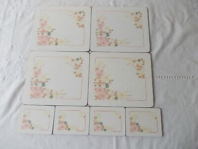 Boots Hedge Rose4 Table Place Mats & 4 Coasters • 14.99£