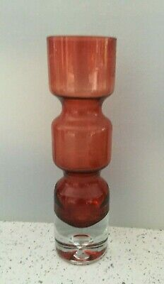 Vintage Aseda Vase, In The Colour Of Cranberry By Bo Borgstrom Circa 1960s • 29£