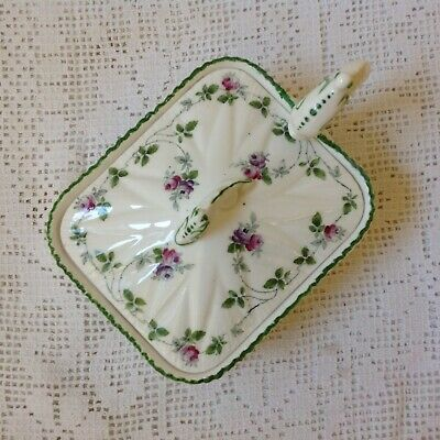 Antique C1895 Early Shelley Sardine Dish With Lid, Registration Number 272101 • 35£
