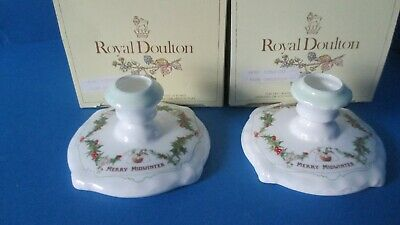 Pair  Merry Midwinter   Candlesticks Boxed  1st Quality • 210£
