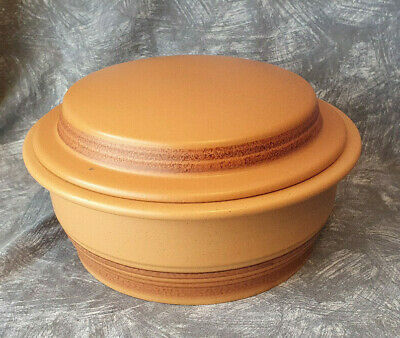 PURBECK POTTERY TOAST Larg CASSEROLE DISH Oven To Table VINTAGE 1970s. • 14.50£