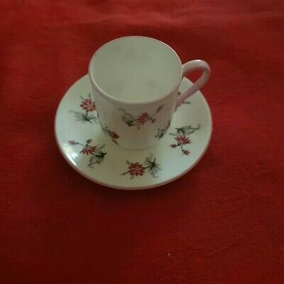 Vintage Shelley Miniatute Cup And Saucer Pattern 13849 Pink Flowers • 39.99£