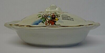 Vintage Childrens Nursery Tureen With Little Red Riding Hood Meeting The Wolf • 11.99£