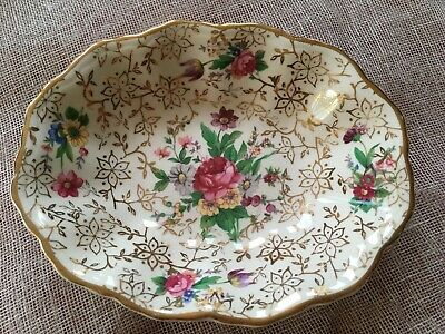 Midwinter England Semi-Porcelain Chintz Oval Trinket Dish 14cm Long - ExCondtion • 5.99£