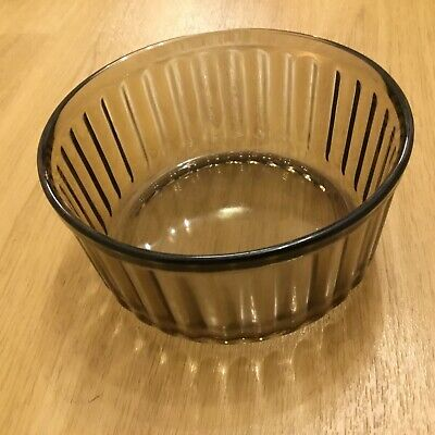 Arcopal FRANCE Soufflé Glass Dish,Number 29, Brown Glassware. • 3.80£