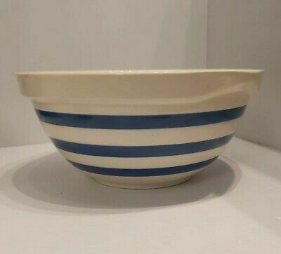 Vintage Staffordshire Chef Ware Blue & White Mixing Bowl  • 20£