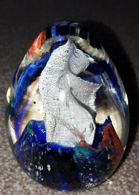 Multi Coloured Abstract Modern Solid Paperweight Egg Shape • 2.20£