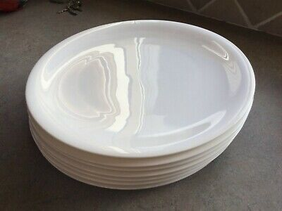 Two Only Denby China Large Size White Dinner Plates 29cm, Very Good Condition. • 12£