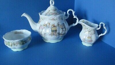 BRAMBLY HEDGE  TEA POT , MILK JUG & SUGAR BOWL First Quality Mint • 165£