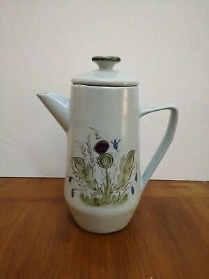 Vintage Buchan Stoneware Pottery Thistle Coffee Pot By 'Q' 21.3cms Tall PERFECT • 10£