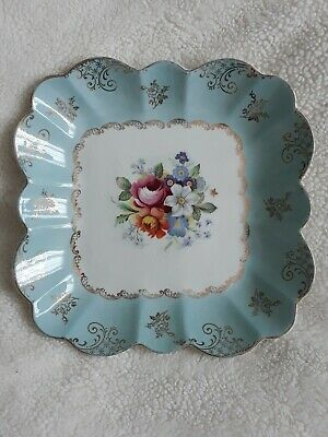 Pretty Old Foley Plate/bowl, Blue Border With Floral Centre, Great Condition! • 9.99£