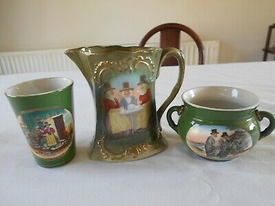 Collection Of Welsh  Ladies Costume  Pottery Jug/ Bowl,/beaker • 5£