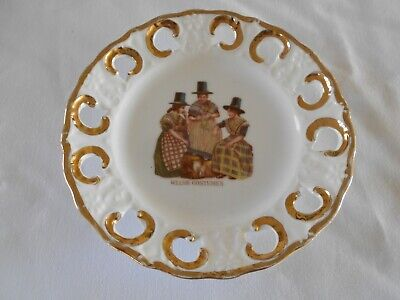 Vintage Welsh Costumes Ribbon Type Plate • 3£
