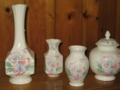 Aynsley Little Sweetheart Lidded Pot, Vase Ex Cond + 2 Free With Damage See Pics • 7£