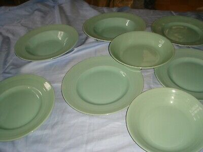 Vintage Woods Ware Beryl Green 1940's Plates Bowls Dishes • 25£