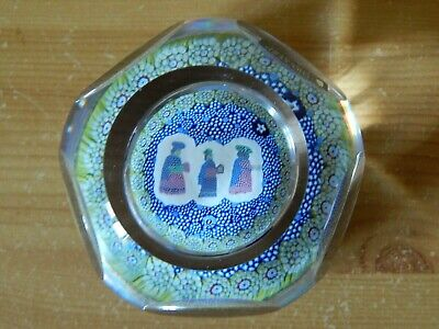 Whitefriars Glass Christmas, Three Wise Men, Millefiori Paperweight, With Label • 55£