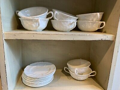 Wedgewood Coalport Countryware Soup Bowls And Saucers • 35£