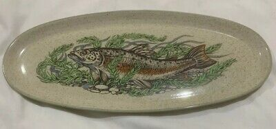 Purbeck Pottery Bournmouth England Fish Platter Plate • 5£