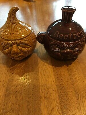 Retro Vintage Beetroot Face 60s Sadler Excellent Condition + Picked Onion Pot • 14.95£