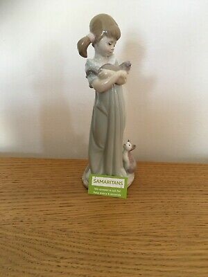 Lladro 5743  Don't Forget Me  Girl & Kittens Figurine. Mint Condition.+ Sticker • 16.01£