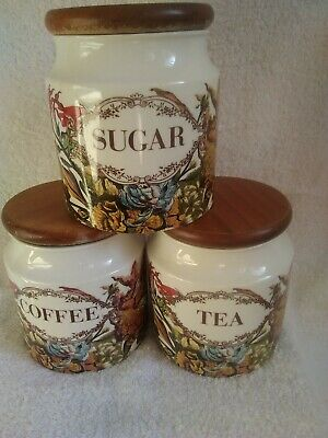 Dunoon Stoneware. Tea Coffee Sugar Containers. Superb Condition. See Photos  • 17.50£