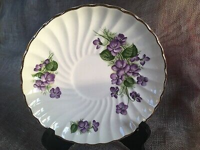 Royal Wessex White Ironstone By Swinnertons Saucer 'Violets' 1962+ MadeInEng ExC • 3.99£