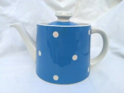 T G Green Cornishware Cornish Blue Domino Teapot 1.5 Pint - Vintage • 46.99£