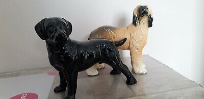 Labrador And Afghan Hound Figurines  7inch • 8.50£