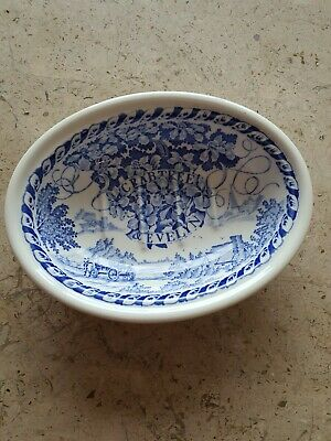A Gorgeous Ceramic Mason's Blue & White Crabtree & Evelyn Deep Soap Dish- Unused • 12.99£