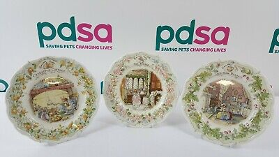 Royal Doulton 'The Mice Of Bramley Hedge' Collectors Plates X 3 - U9 • 9.99£