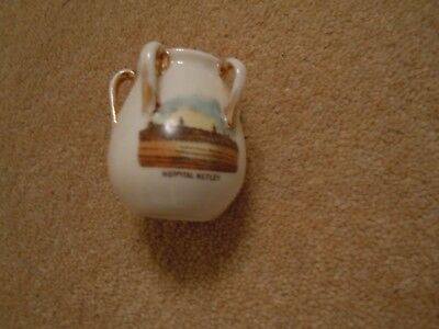 Vintage Unusual White Miniature Pot With 5 Little Handles Around Top  • 6£