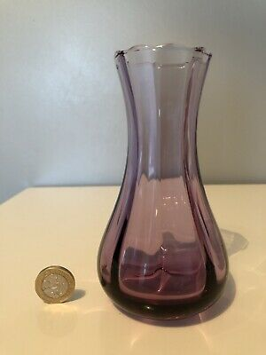 Caithness Crystal Glass Vase - Purple Amethyst - Mint Condition • 8£