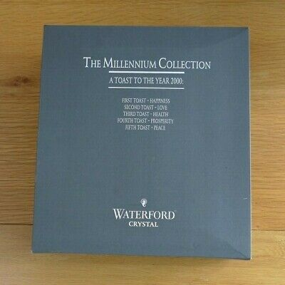 Waterford Millenium Collection LOVE Champagne Flutes In Box With Papers • 45£