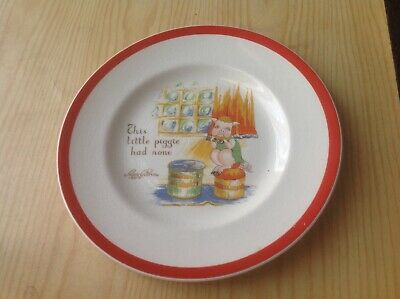 Rare Midwinter Peggy Gibbons Plate Piggy Nursery Ware 7Inch Plate 1960 • 12.70£