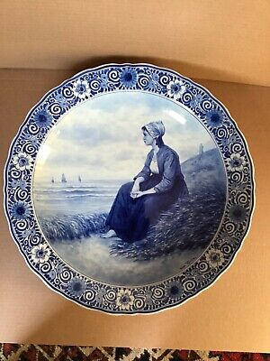 A Large Delft Blue And White 41 Cms Charger By Thooft And Labouchere • 180£