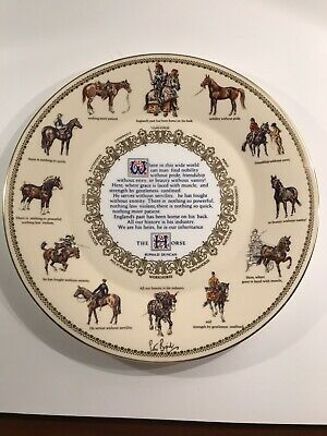Ceramic China Plate - The Horse  Ronald Duncan- Plate/ Plaque . AYNSLEY 1976. • 15£