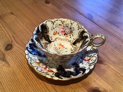 Old Cup And Saucer.coalport C 1832 Pattern Numb 896 • 5£