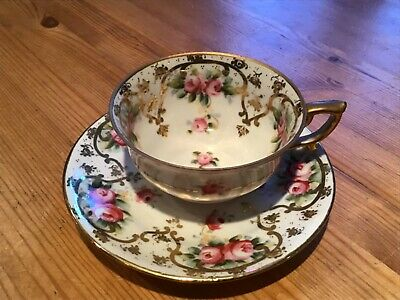 Old Cup And Saucer See Picture. Crossed Anchors. • 5£