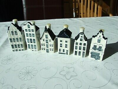 6 X KLM Bols Delft Houses, All In Excellent Condition, Nos. 19 20 26 67 70 81 • 49.99£