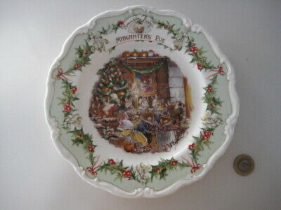 Royal Doulton Brambly Hedge Midwinter's Eve Festive Christmas Bone China Plate • 59.99£