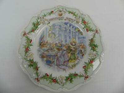 (Ref288BD) Royal Doulton Brambley Hedge Plate 21cm Candlelight Supper • 11.50£