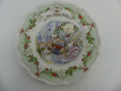 (Ref288BD) Royal Doulton Brambley Hedge Plate 21cm The Snow Ball • 11.50£