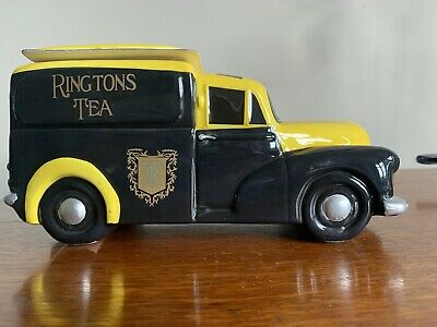 BNIB Ceramic Morris Minor Tea Caddy / Biscuit Barrel RINGTONS • 9.50£