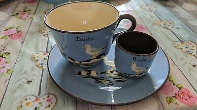 Torquay Ware Cup And Saucer With Egg Cup - Bude • 5.99£