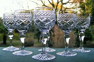 Stuart Crystal  Braemar   6 Port / Liqueur Glasses 3 3/4  Tall • 35£