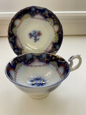 Gaudy Welsh Cup And Saucer • 32.92£