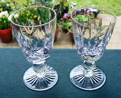 Pair Of Stuart Crystal  Argyll  4  Sherry Glasses • 15£